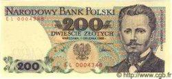 200 Zlotych POLOGNE  1988 P.144b NEUF