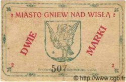 2 Marks  POLOGNE Gniew 1920 P.-- TTB