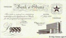 1000 Pounds GHANA  1958 P.04 SPL+