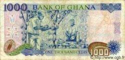 1000 Cedis GHANA  1991 P.29 TB+