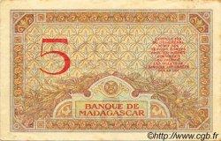 5 Francs MADAGASCAR  1940 P.35 TTB+