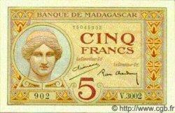 5 Francs MADAGASCAR  1940 P.35