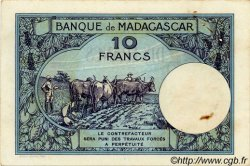 10 Francs MADAGASCAR  1940 P.36 TTB+