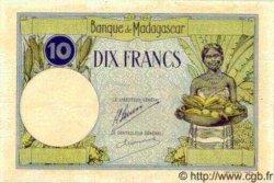 10 Francs MADAGASCAR  1940 P.36s TTB