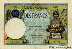 10 Francs MADAGASCAR  1940 P.36 TB