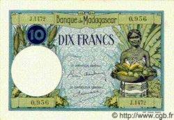 10 Francs MADAGASCAR  1940 P.36 SPL+
