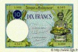 10 Francs MADAGASCAR  1940 P.36 SPL