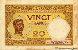 20 Francs MADAGASCAR  1940 P.37 TB