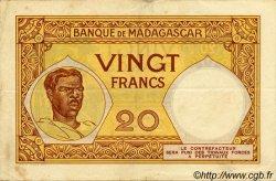 20 Francs MADAGASCAR  1940 P.37 TTB