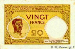20 Francs MADAGASCAR  1940 P.37 TTB+