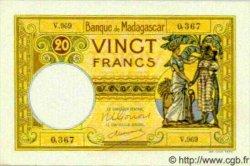 20 Francs MADAGASCAR  1940 P.37 NEUF