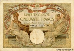 50 Francs MADAGASCAR  1940 P.38 TB