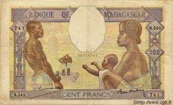 100 Francs MADAGASCAR  1940 P.40 TB à TTB