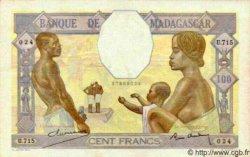 100 Francs MADAGASCAR  1940 P.41 SUP