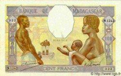 100 Francs MADAGASCAR  1940 P.40 pr.SPL