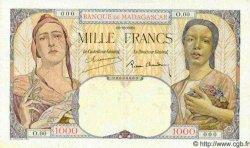 1000 Francs MADAGASCAR  1933 P.41s SUP