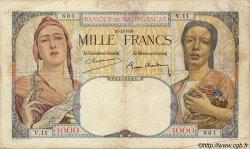 1000 Francs MADAGASCAR  1939 P.41 TB