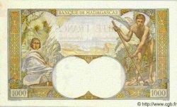 1000 Francs MADAGASCAR  1947 P.41 SUP+