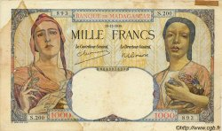 1000 Francs MADAGASCAR  1948 P.41 B à TB