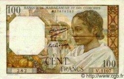 100 Francs MADAGASCAR  1950 P.46a SUP