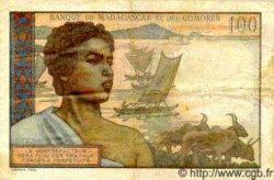 100 Francs MADAGASCAR  1950 P.46b pr.TTB