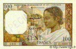 100 Francs MADAGASCAR  1950 P.46bs SPL