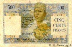 500 Francs MADAGASCAR  1950 P.47a TB+