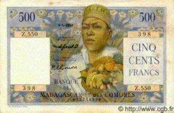 500 Francs MADAGASCAR  1958 P.47b SUP