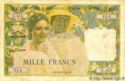 1000 Francs MADAGASCAR  1953 P.48b TB