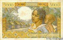 5000 Francs MADAGASCAR  1950 P.49a TB+