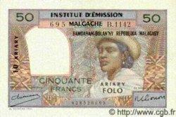 50 Francs/ 10 Ariary MADAGASCAR  1961 P.51a SPL
