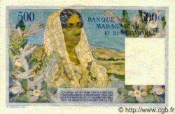 500 Francs/ 100 Ariary MADAGASCAR  1961 P.53 TTB+ à SUP
