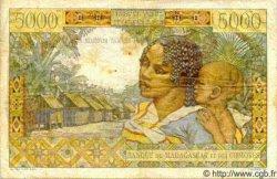 5000 Francs/ 1000 Ariary MADAGASCAR  1961 P.55 TB à TTB