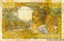 5000 Francs/ 1000 Ariary MADAGASCAR  1961 P.55 TB