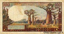 100 Francs/ 20 Ariary MADAGASCAR  1966 P.57 TB