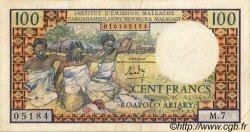 100 Francs/ 20 Ariary MADAGASCAR  1966 P.57 TTB