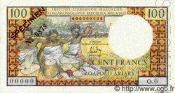 100 Francs - 20 Ariary MADAGASCAR  1966 P.57s SPL