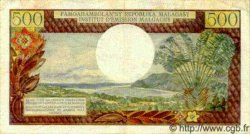 500 Francs - 100 Ariary MADAGASCAR  1966 P.58 TTB