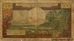 500 Francs/ 100 Ariary MADAGASCAR  1966 P.58 B