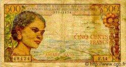500 Francs/ 100 Ariary MADAGASCAR  1966 P.58 B+