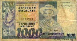 1000 Francs - 200 Ariary MADAGASCAR  1975 P.65 TB