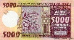 5000 Francs/ 1000 Ariary MADAGASCAR  1975 P.66
