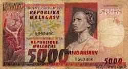 5000 Francs/ 1000 Ariary MADAGASCAR  1975 P.66 TB+