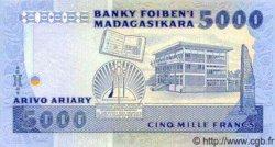 5000 Francs/ Ariary MADAGASCAR  1983 P.69