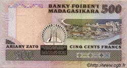 500 Francs/ 100 Ariary MADAGASCAR  1988 P.71 SPL