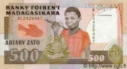 500 Francs - 100 Ariary MADAGASCAR  1988 P.71 NEUF