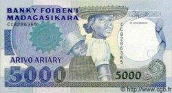 5000 Francs - 1000 Ariary MADAGASCAR  1988 P.73 pr.NEUF