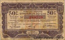 50 Centimes BELGIQUE Anvers 1915 P.-- TB
