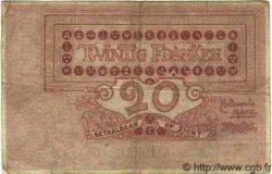20 Francs BELGIQUE  1913 P.003A B à TB