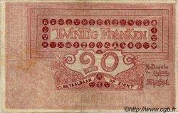 20 Francs BELGIQUE  1919 P.003A TB